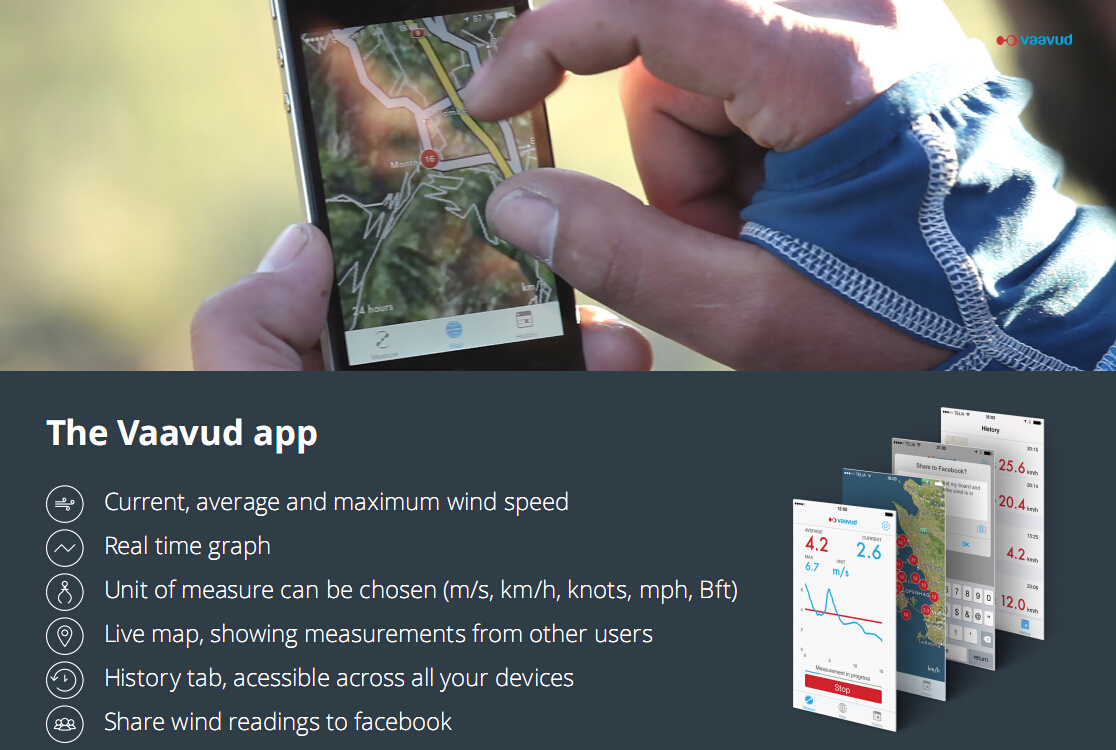 Vaavud app 风速仪 测风仪 风向标 帆船配件 帆船风向仪