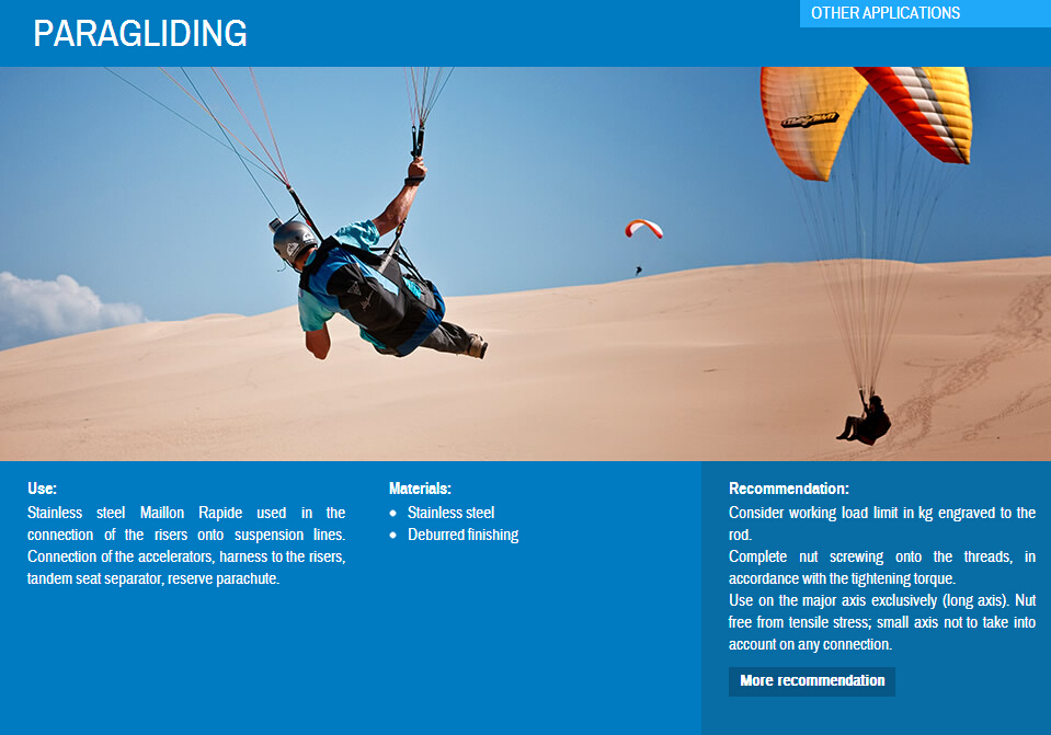 maillon rapide Paragliding quick link 滑翔伞 快捷扣